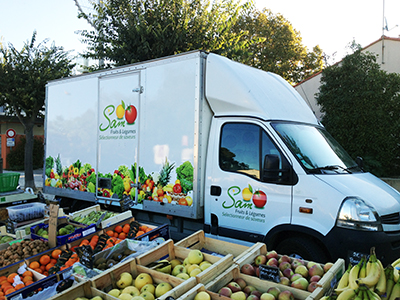Camion Sam fruits et légumes