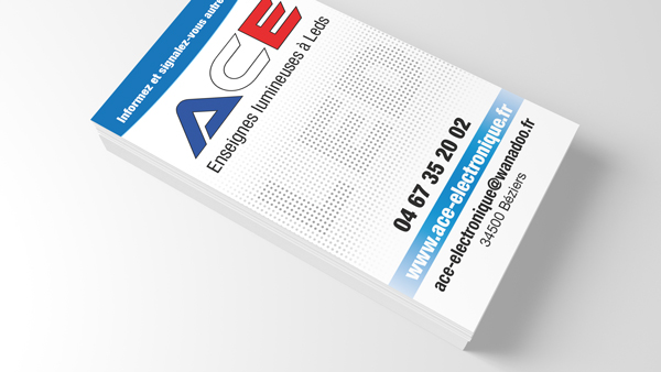 Cartes de visite ACE Électronique