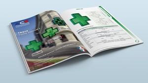 Photo représentant un catalogue ouvert et servant de bouton pour accéder à la partie catalogues du site