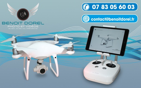 Utilisation du drone pour les photos de vos documents