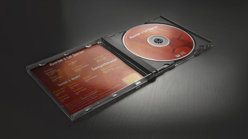 Création d'une jaquette de CD
