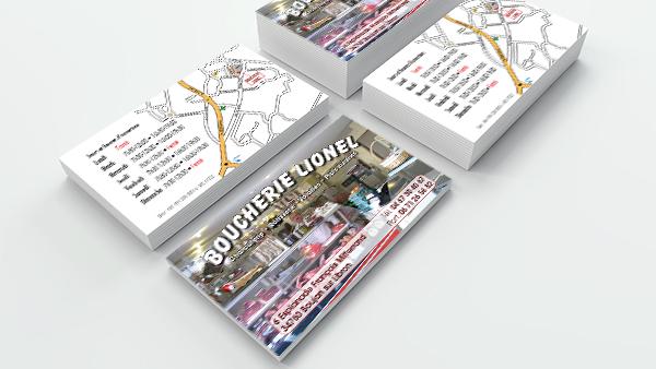 Carte de visite de la Boucherie Lionel à Boujan sur Libron