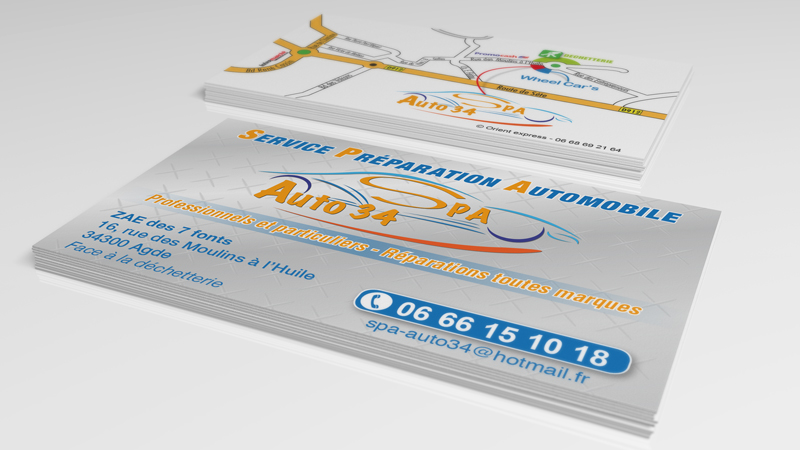 Carte de visite SPA Auto 34 Agde