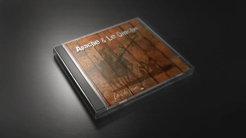 Création d'une jaquette de CD Apache & le Quincho
